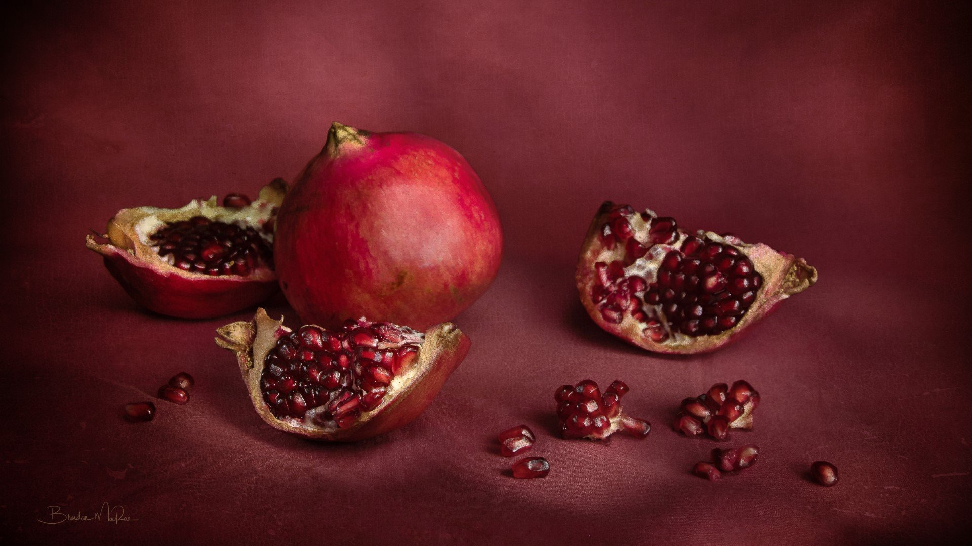 Pomegranate in red