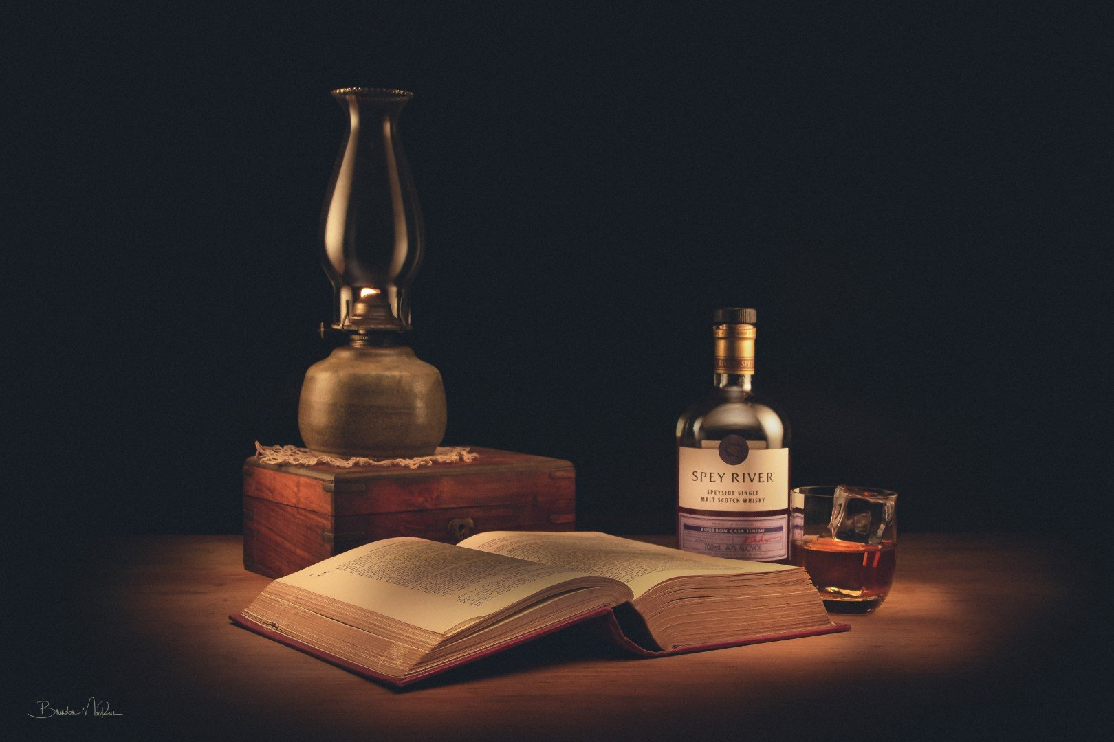 Whisky and book